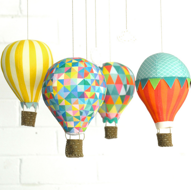 ✄ diy un mobile bébé montgolfières ✄