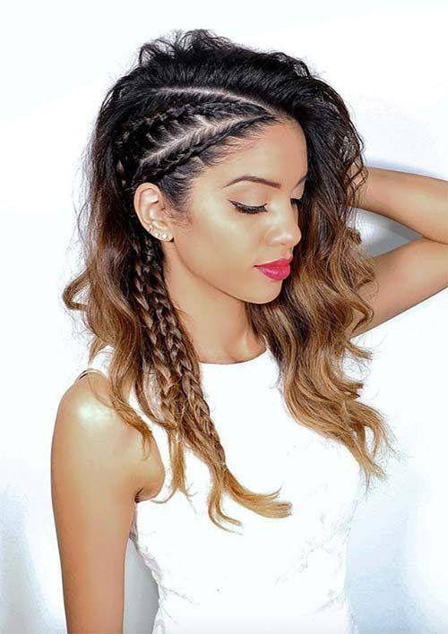 Side Braids Curls Hair Updo Hair Styles Braids For Long Hair Gorgeous Braids