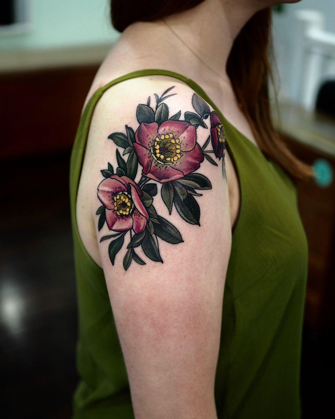 Hellebore's shoulder for lovely Emma 🧡 thanks for looking