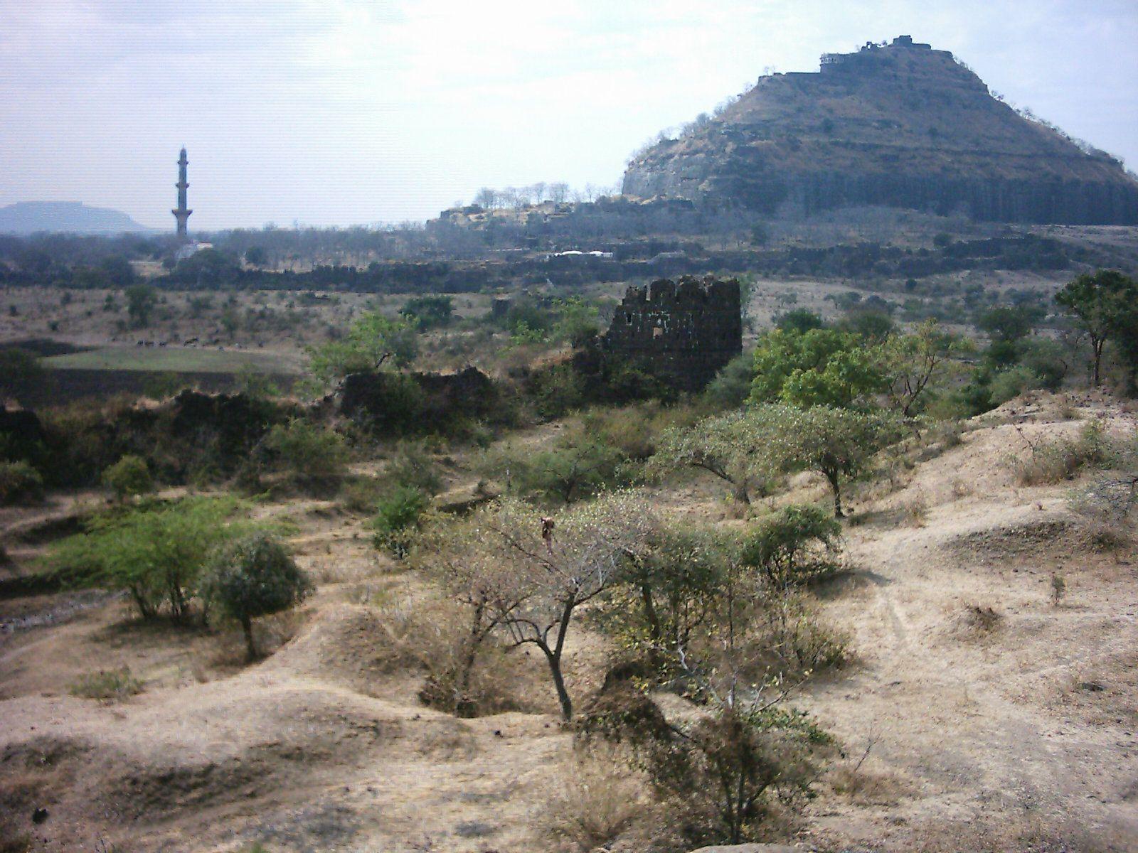 Minaret and old fort, Maharastra State