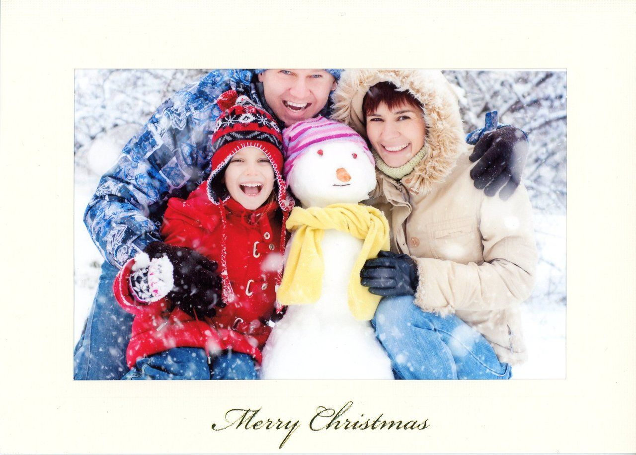 Merry Christmas Photo Note Cards PLYMOUTH