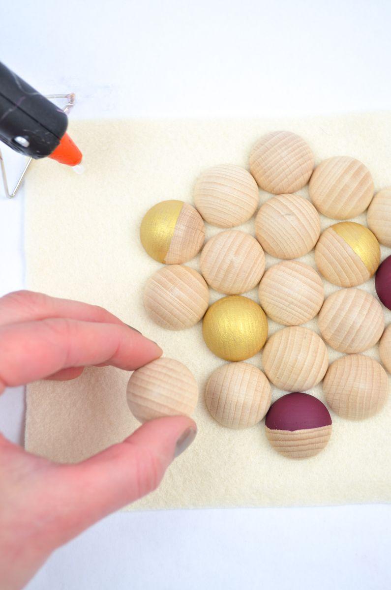 DIY-Untersetzer aus Holz #DIY #monochromediy #coasters #wood