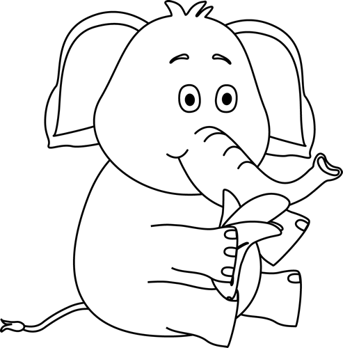 Black And White Elephant Eating A Banana Elephant Eating White Elephant Elephant