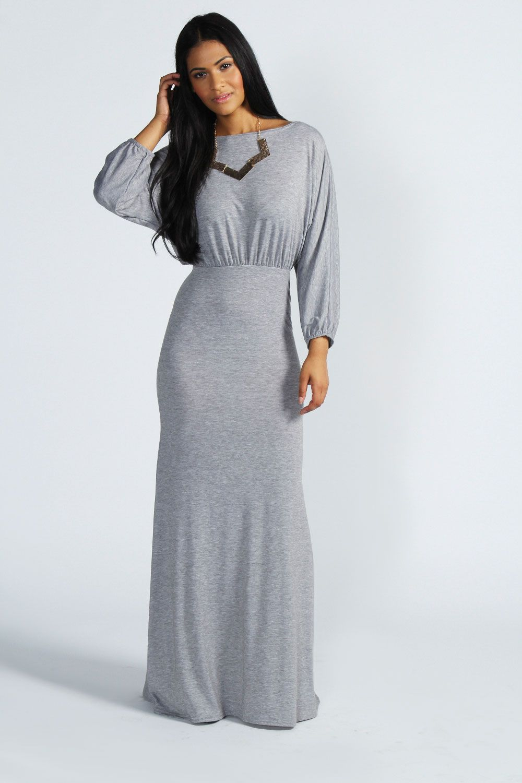 Off Shoulder Slouchy Maxi Dress