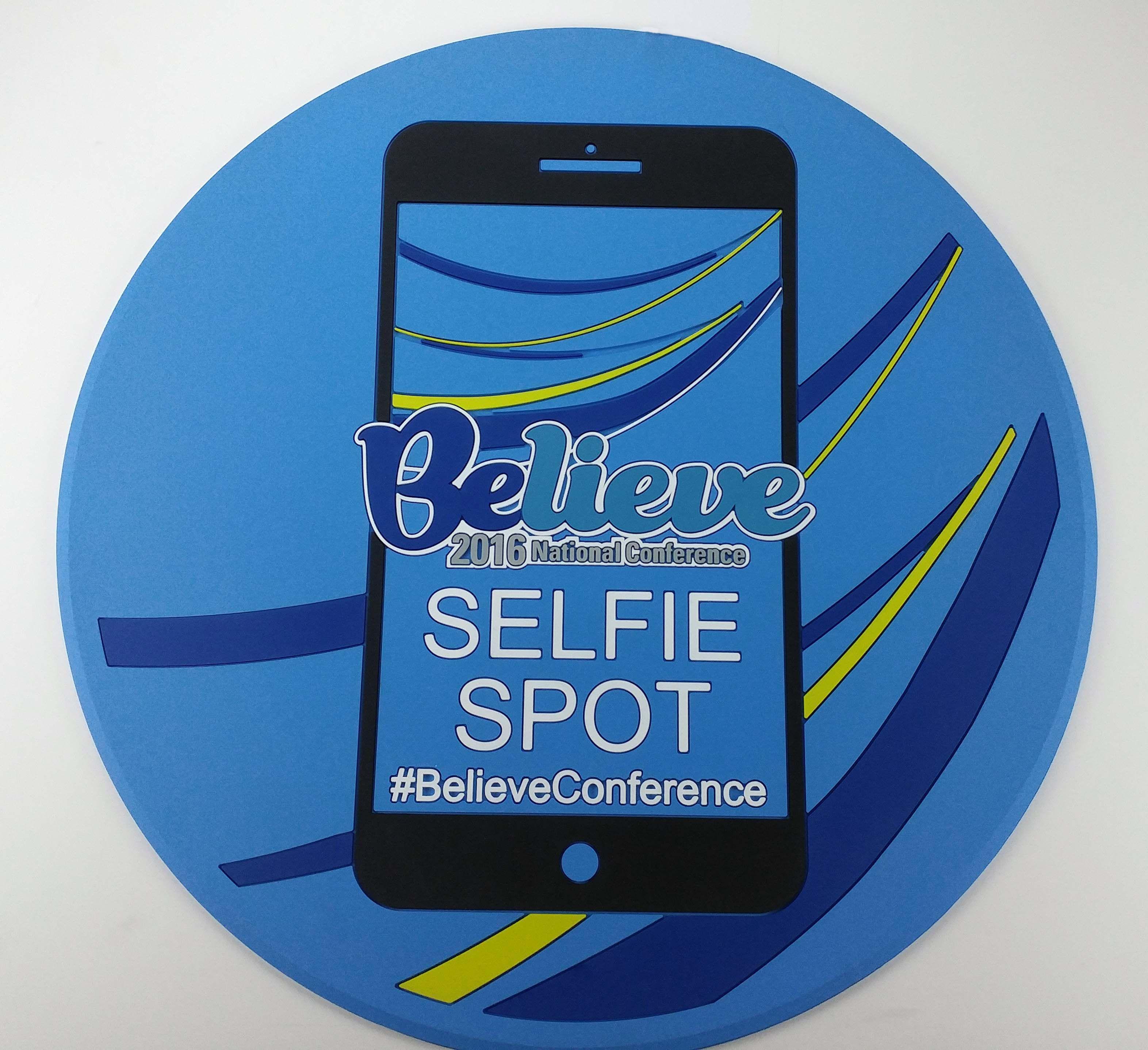 Believe Custom Selfie Spot Mat Custom Floor Display Mats That
