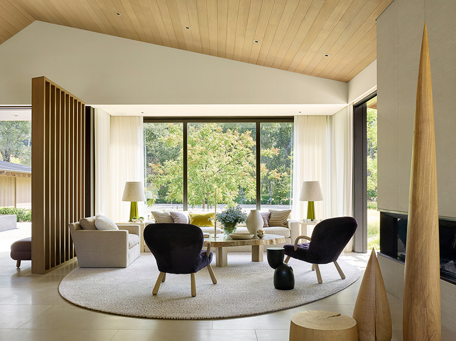 Walker Warner Architects Oak Woodland Woodland House House Contemporary Living Room