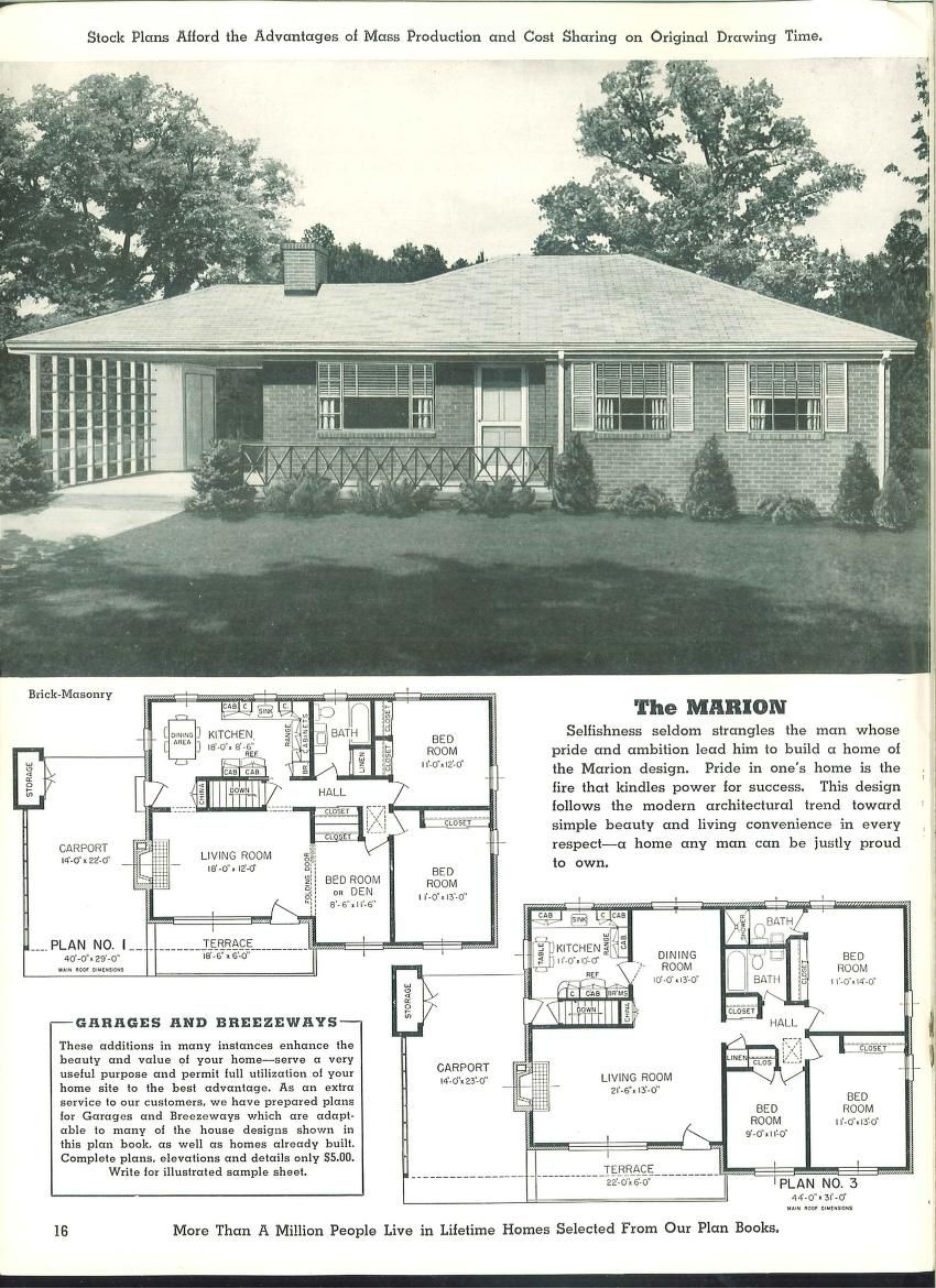 Homes Of Today And Tomorrow Dream Cottage Model Homes House Floor Plans