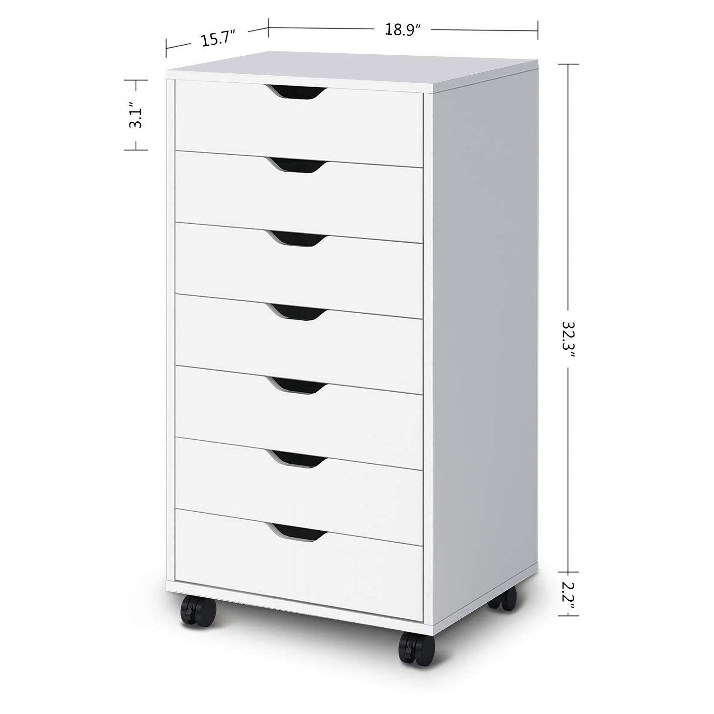 Best Amazon Com Devaise 7 Drawers Chest Storage Dresser 400 x 300