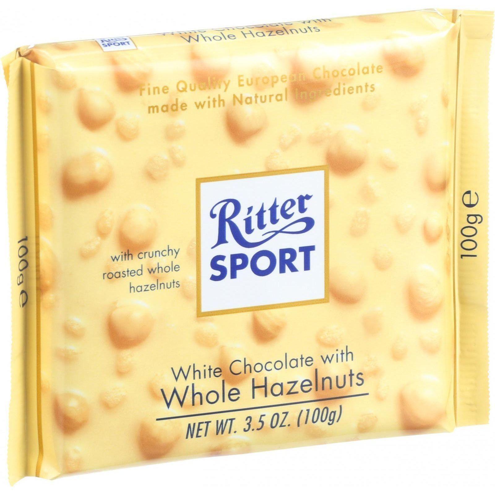 Ritter Sport Chocolate Bar White Chocolate Whole Hazelnuts