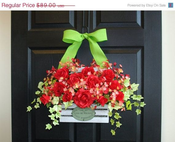 Wreaths On Sale Spring Summer Wreaths For Door Wreath Front Door