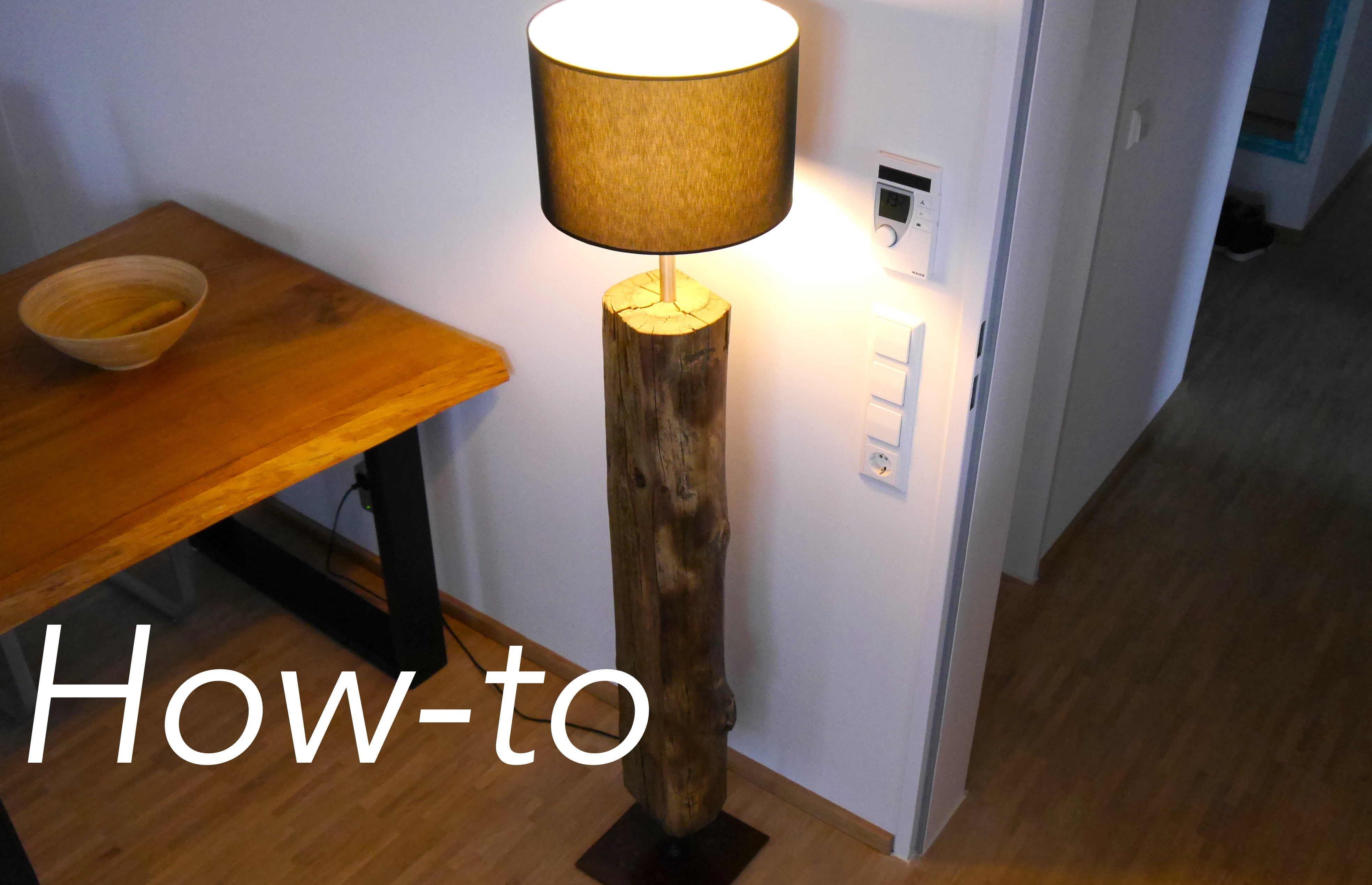 Diy Designer Lampe Treibholz Bauen Anleitung Stehlampe Treibholz