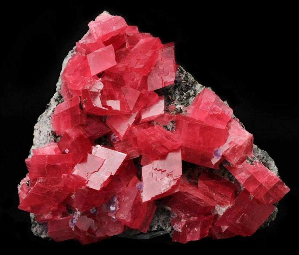 Rhodochrosite Crystals From Sweet Home Mine Colorado USA