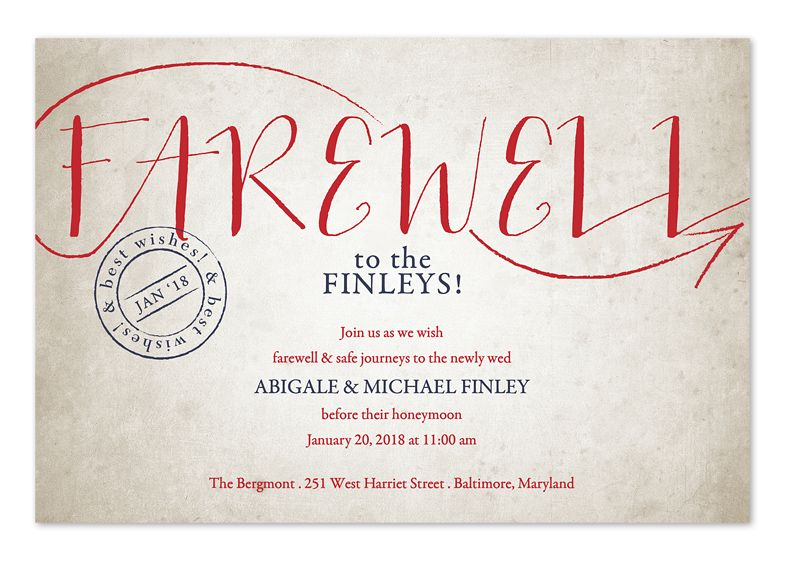 Vintage Sendoffu0027 by Invitation Consultants Party Planning - farewell party invitation template