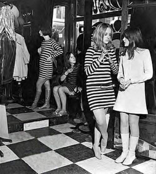Girls in Biba's Kensington Church Street  boutique, London