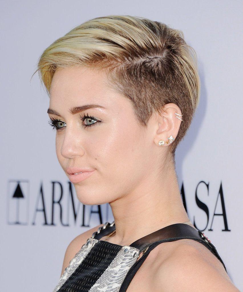 Miley Cyrus Short Hair Undercut