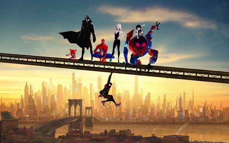 Desktop Wallpaper Movie Artwork Spider Man Into The Spider Verse Fan Art Hd Image Picture Background Aaf1 Spider Verse Avengers Wallpaper Movie Artwork