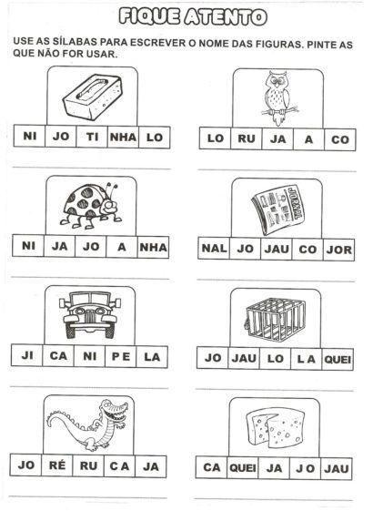 Atividades Com Ja Je Ji Jo Ju Palavras Temas De Fala E Linguagem