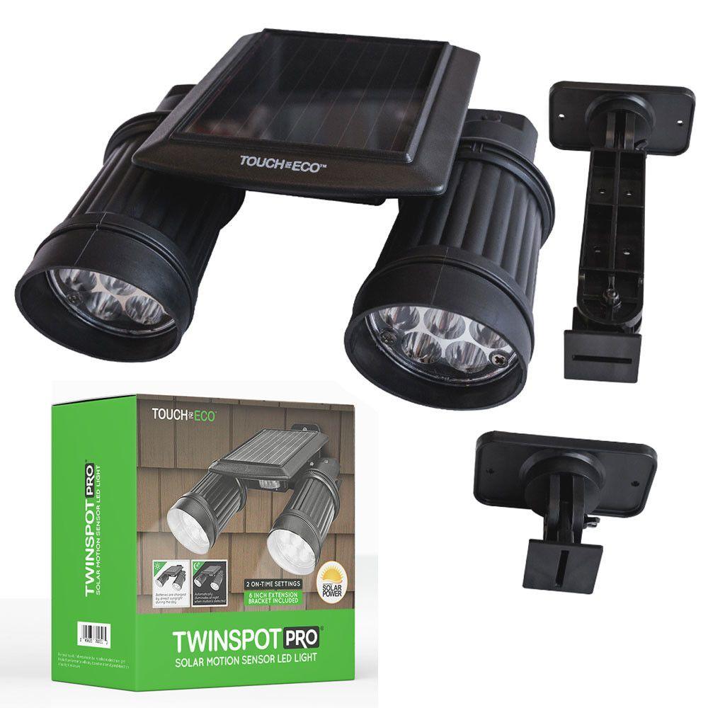 Twinspot Pro Solar 14 Light Led Outdoor Spotlight Security