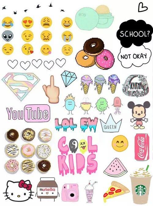 popular tumblr sticker zum ausdrucken image  desain