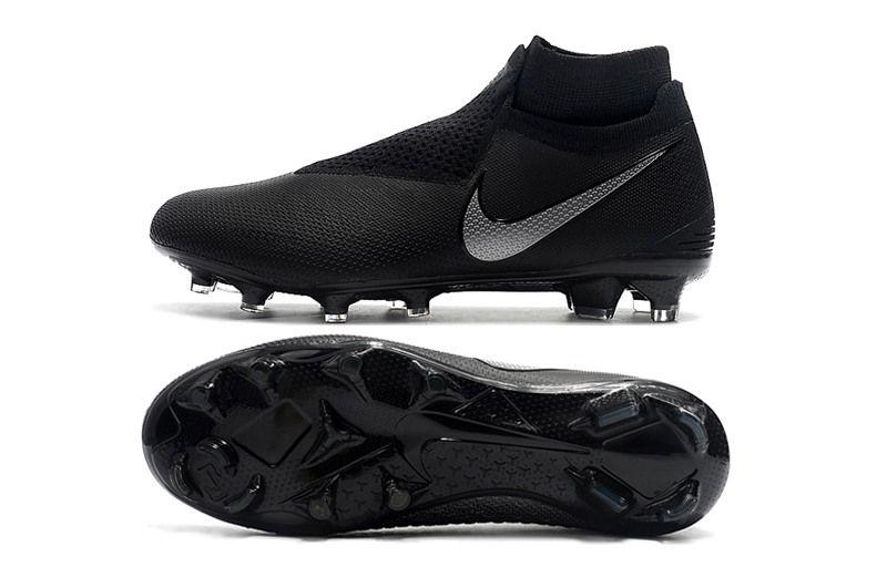 Botas de Fútbol Nike Phantom Vision Elite DF FG - Negro Azul   tacos ... 78779b29390