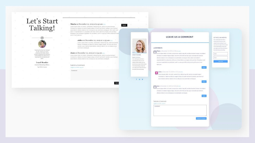 How To Style Divi S Comments Module Inside A Blog Post Template In 2020 With Images Blog Post Template Post Templates Blog Template