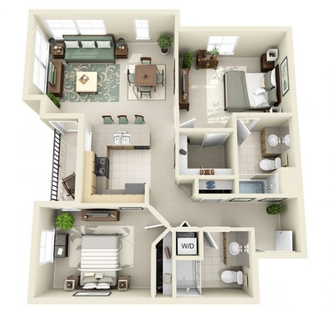 Cheap Two Bedroom Apartment: Maquetes De Plantas De Casas. Affordable Planta De Casa D