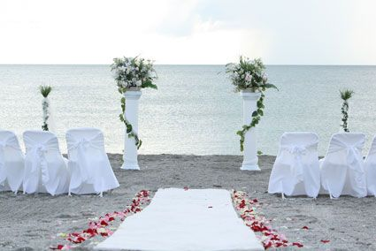Wedding Ceremony Flower Arrangements Column Dreams Beach Package Florida