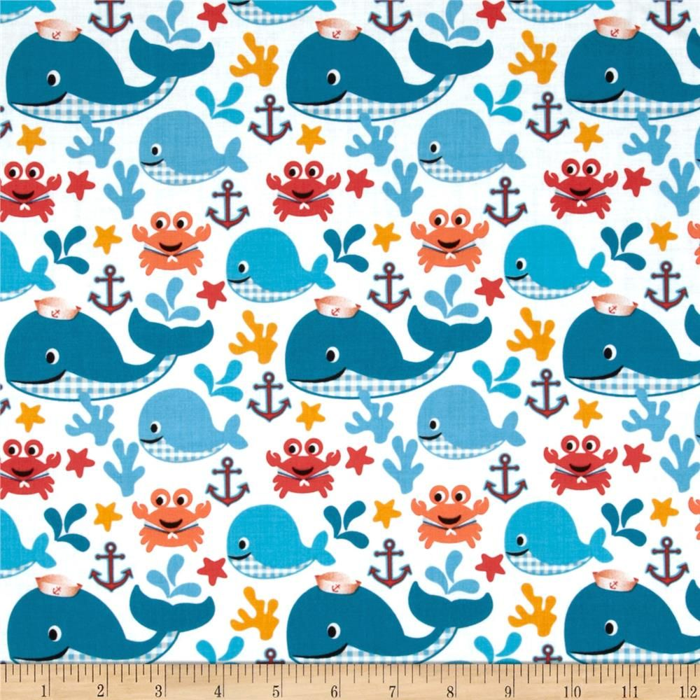Pimatex mini print dots steel home adventure and whales for Whale fabric