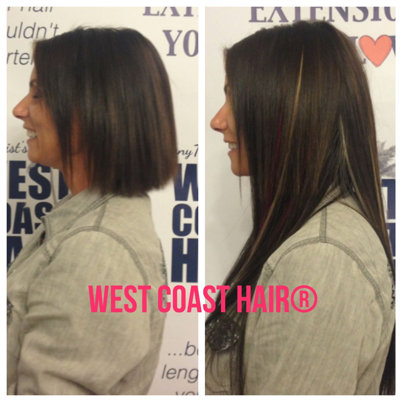 WEST COAST HAIR® before and after #hairextensions Set up an appointment today and get safe, natural hair extensions! www.westcoasthair.com