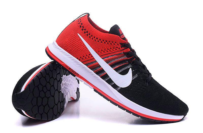 c1cd00107509 Shop Nike Men Air Zoom Flyknit Streak 6 Anthracite Bright Crimson White Air  Zoom Flyknit Streak