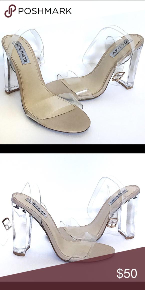 739b2736eb7 Steve Madden clear strap sandal heels Steve Madden women's Camille ...