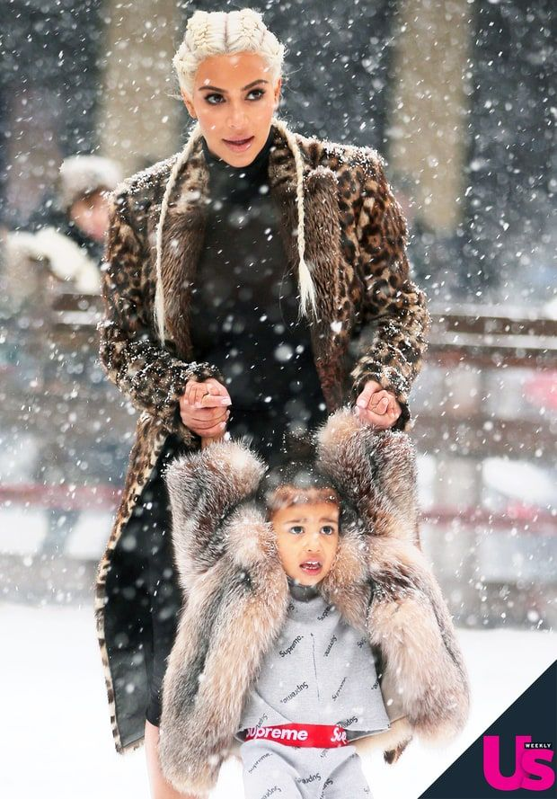 Kim Kardashian Teaches North West How to Ice-Skate: Cute Photos ...