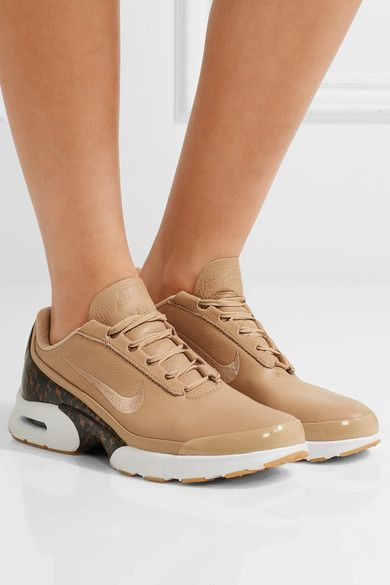 Nike - Air Max Jewell Lx Leather And Tortoiseshell Plastic Sneakers - Beige a9fb84abe812