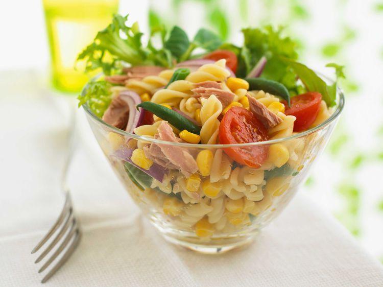 Salade de pâtes au thon | Recette (avec images) | Pates au ...