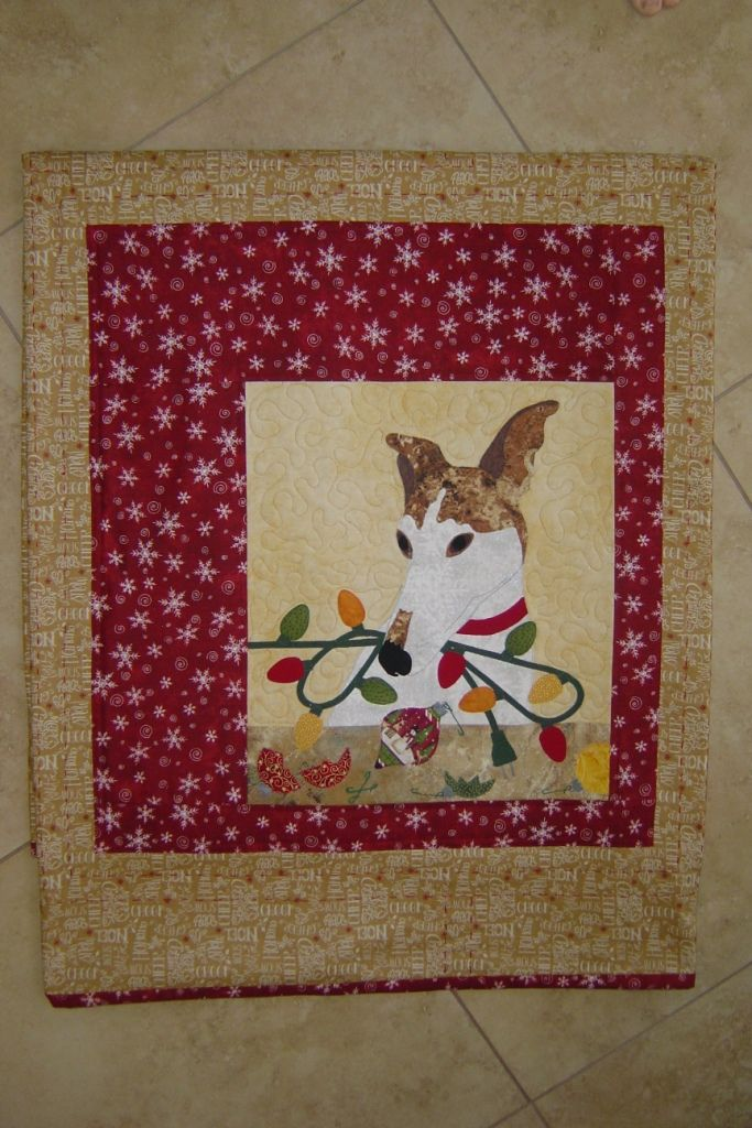 Billy Decks The Halls From Trouble Boo Designs Lap Quilt Pattern
