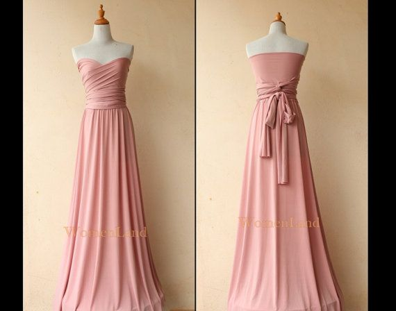 177668486bf6 Dusty Pink For Infinity Dress Convertible Bridesmaid Dress Floor Length  Evening Gown Dress Plus Size Woman