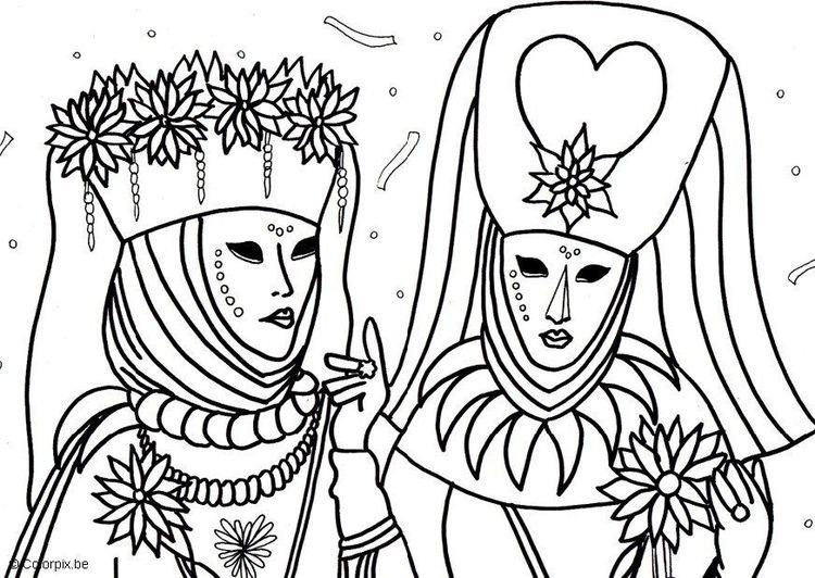 Malvorlage Karneval in Venedig | Fantasie | Pinterest | Venedig ...