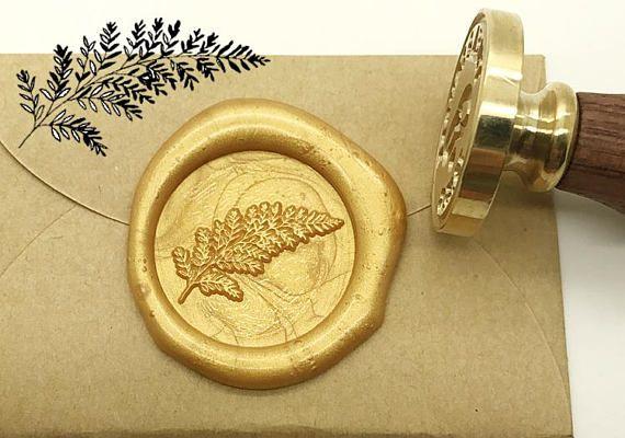 leaf wax seal stamp kit wedding invitation sealing wax stamp
