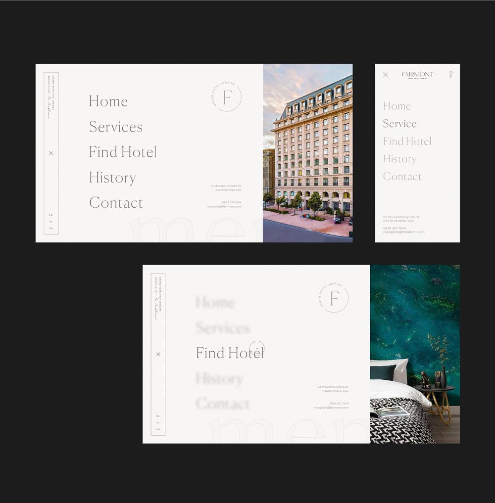 Artur Galustyan On Behance Hotel Website Design Hotel Website Branding Design