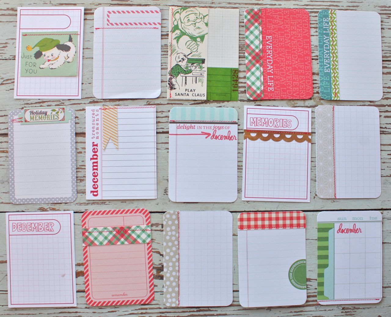 Mish Mash: Project December......3 x 4 Journal Cards....always has ...