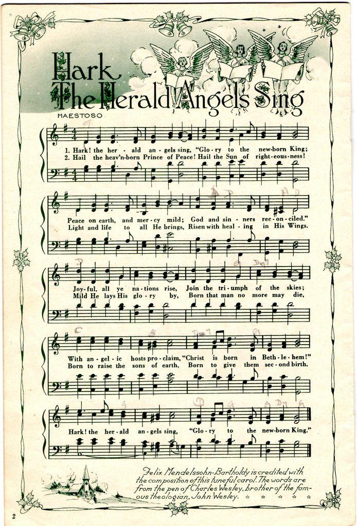 Hark The Herald Angels Sing Christmas sheet music