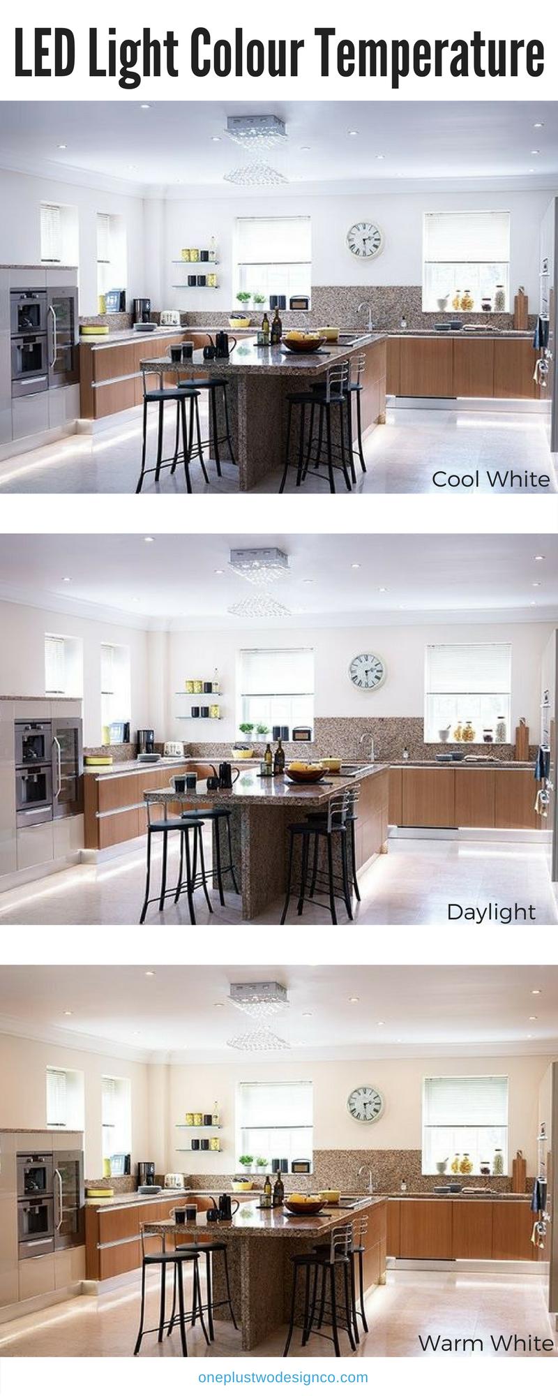 Warm Light Vs Daylight : light, daylight, Choose, Right, Light, Colour, Temperature, Oneplustwo, Design, Interior, Decorating, Kitchen, Colors,, Lighting,, Lighting