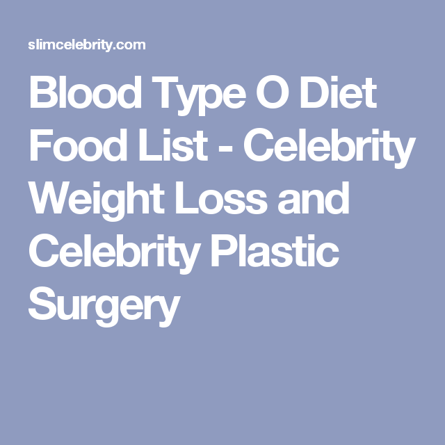 blood type o diet food list celebrity weight loss and celebrity plastic surgery weight loss tips pinterest celebrity weight loss blood types and