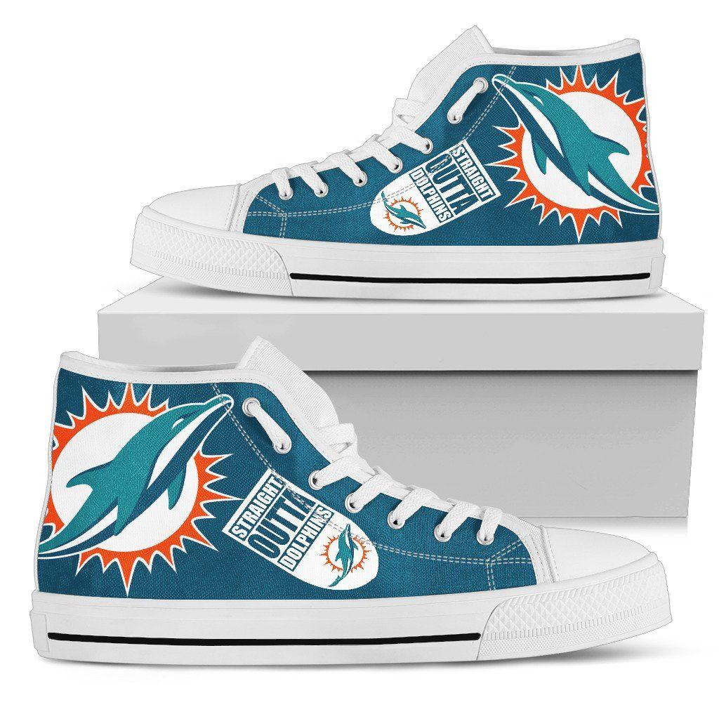 994e0598 Straight Outta Miami Dolphins High Top Shoes   Miami Dolphins Unique ...