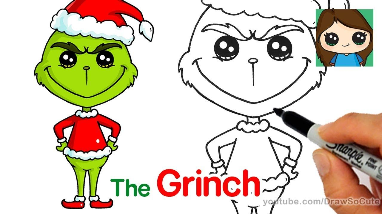 How to Draw The Grinch Easy Xmas drawing, Grinch drawing
