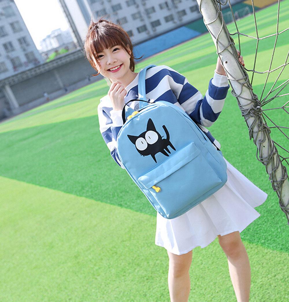 20.17$  Watch now - http://viwmo.justgood.pw/vig/item.php?t=ifx5zf23393 - Backpack Backpacks for Teenage Girls School Bags Mochila Feminina Cat Printing B 20.17$