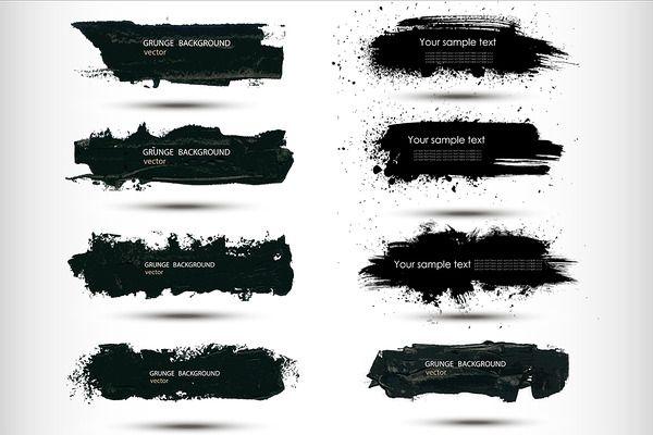 8 watercolor splash banners set by Smotrivnebo on @creativemarket