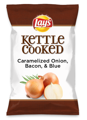 Wouldn't Caramelized Onion, Bacon, & Blue be yummy as a chip? Lay's Do Us A Flavor is back, and the search is on for the yummiest flavor idea. Create a flavor, choose a chip and you could win $1 million! https://www.dousaflavor.com See Rules.