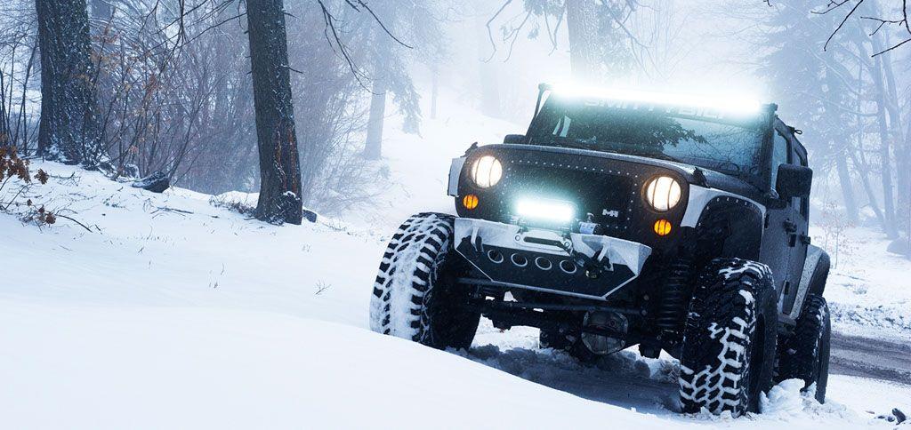 Jeep Wrangler JK in the snow Jeep wrangler, Jeep, 2015