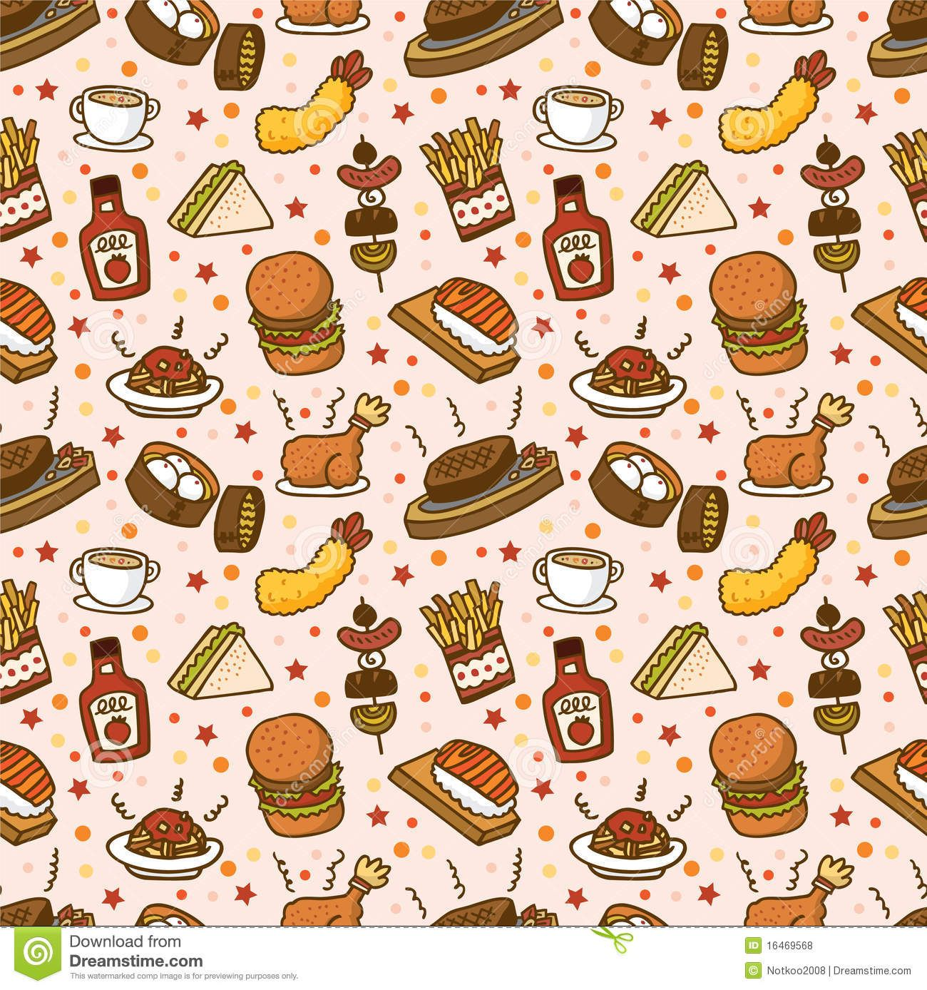 seamless fast food pattern download from over 28 million